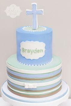Boy's Baptism Cake - La Dolce Dough, Sylvania Ohio