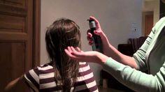 ASMR - Brushing Wet hair and using Argan oil