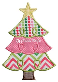 710 Loopy Christmas Tree 2 Machine by AppliqueCafeDesigns on Etsy