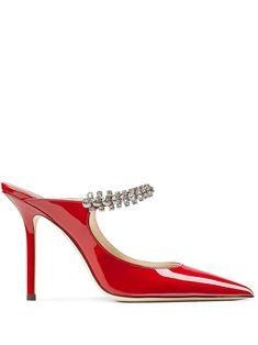 Jimmy Choo, Calf Leather, Patent Leather, Stiletto Pumps, Red Shoes, Heeled Mules, Kitten Heels, Women Wear, Detail