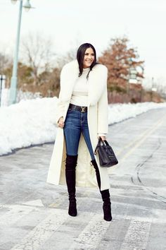 @roressclothes clothing ideas #women fashion black-over-the-knee-stuart-weitzman-boots-nyfw-street-style