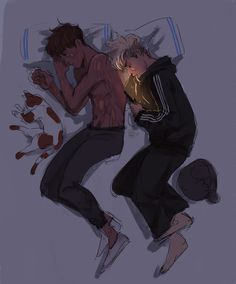 berry-muffin - Posts tagged the foxhole court Character Inspiration, Character Art, Character Design, Neil Josten, Couple Sleeping, Gay Aesthetic, Cute Couple Art, Cute Gay Couples, Wow Art