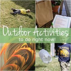 """15 Simple Outdoor Activities for Kids To Do Now - great """"big art fun"""" Kids Outdoor Play, Outdoor Activities For Kids, Outdoor Learning, Craft Activities For Kids, Summer Activities, Outdoor Fun, Toddler Activities, Projects For Kids, Outdoor Games"""