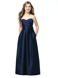 navy blue bridesmaids dress... love this only knee length