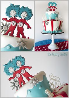 Happy Birthday Dr. Seuss-A Whimsical Party Cake with Thing 1 & Thing 2 by The Pastry Studio: Daytona Beach,Fl. » The Pastry Studio  Dr.seuss birthday and baby shower party ideas and inspiration
