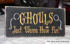 Ghouls Fun Word Art