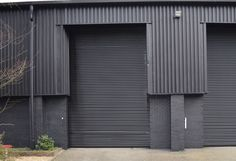 Roller shutter door after painting Media City Manchester