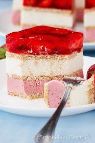 Ciasto truskawkowo-jogurtowe Polish Desserts, Vanilla Cake, Cheesecake, Cooking Recipes, Cookies, Baking, Delicious Recipes, Diet, Kuchen
