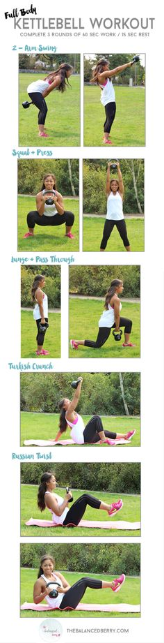 This beginner kettlebell workout is a quick and dirty circuit that will work your entire body!