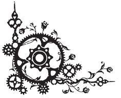 art nouveau steampunk graphic corners - Google Search