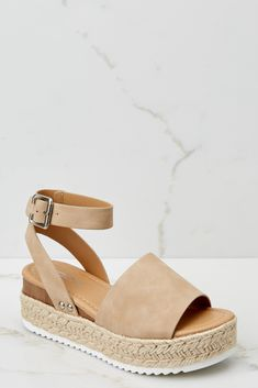 Trendy Taupe Flatform Sandals - Cute Flatform Sandals - Sandals - $36.00 – Red Dress Boutique