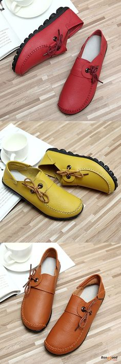 US$22.99 + Free shipping. Size(US): 5~12. Flat Shoes, Shoes for Women, Outdoor Athletic Shoes, Womens Fashion, Womens Shoes, Summer Outfits. Color: Black, Brown, White, Yellow, Wine Red. Upper Material: Top Layer Leather. Casual and comfortable! Love style!