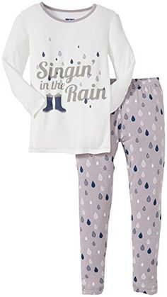 KicKee Pants Little Boys' Print Pajama Set - Feather Rain - 3T or 4T
