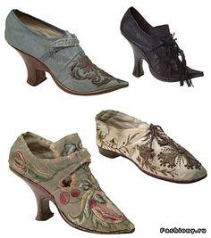 Старинная обувь (54 фото). Обсуждение на LiveInternet - Российский Сервис Онлайн-Дневников Historical Costume, 18th, Oxford Shoes, Booty, Vintage, Inspiration, Clothes, Period, Fashion