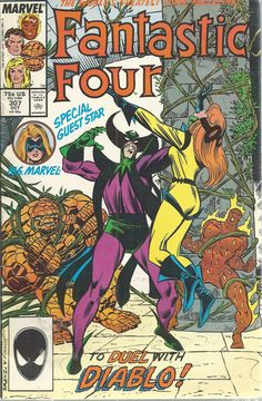 Fantastic Four Marvel Comics Vol 1 No 307 Oct 1987 Duel Diablo Ms Marvel