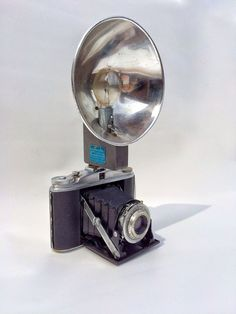 Vintage Camera, Agfa Isolette II Camera, Vintage German Folding Camera with Flash attachment, Graflash P-L by 815vintagegoods on Etsy