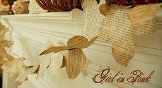 leaf page garland