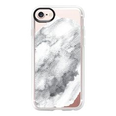 Painted Marble I - iPhone 7 Case And Cover ($40) ❤ liked on Polyvore featuring accessories, tech accessories, iphone case, iphone cover case, apple iphone case, clear iphone case and iphone cases