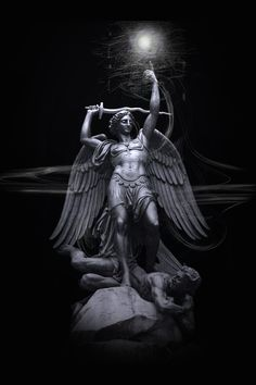 Statue, Sculpture of Winged, Archangel 'St. Michael', Paris, 2007~  CharlieCo / Aaron R