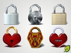 Lock #Icons #PSD
