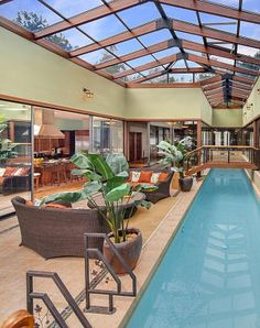 Indoor Swimming Pool Ideas - You want to build a Indoor swimming pool? Here are some Indoor Swimming Pool designs and ideas for you. Swimming Pool House, Luxury Swimming Pools, Natural Swimming Pools, Luxury Pools, Indoor Swimming Pools, Dream Pools, Swimming Pool Designs, Lap Pools, Natural Pools