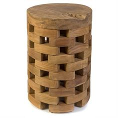 Tawon Solid Teak Timber Stool