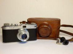 Rare Meopta OPEMA II rangefinder camera 24x32mm Belar f=45mm lens Leica copy+bag #Meopta