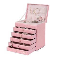 Special Offers - Large Jewelry Stand Box Necklace Ring Storage Display Cabinet Xmas Gift (Pink) - In stock & Free Shipping. You can save more money! Check It (April 27 2016 at 04:03AM) >> http://adjustablebedusa.net/large-jewelry-stand-box-necklace-ring-storage-display-cabinet-xmas-gift-pink/