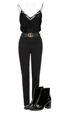"""""""We've been picking up the pieces"""" by pageslearntothink ❤ liked on Polyvore featuring La Perla, Topshop, Gucci and Yves Saint Laurent"""