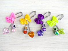 Brooch pin jewelry for newborn. Bright safety pin. Brooches pins for the whole family. Multi-colored small pin brooch from the evil eye. by AdornmentTala on Etsy