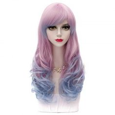 SHARE & Get it FREE | Lolita Anime Hairstyle Design 60CM Side Bang Long Wavy…