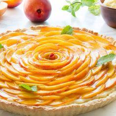 #delicious Fresh Peach Crostata #foodie