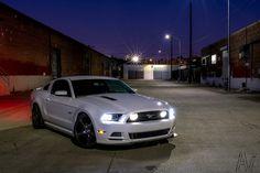 http://chicerman.com  myheartpumpspetrol:  Alley Mustang Final fb by -AVN- on Flickr.  #cars