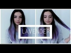 Lavender Ombré Hair | PaolaKassa - YouTube  what I really want to do to my hair, probably right before school