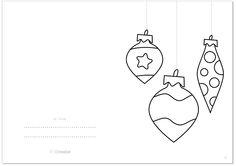 BOLAS DE NAVIDAD: Tarjeta de Navidad GRATIS / CHRISTMAS BALLS: Christmas Printable Card FREE © @evapipo #Printable #card #tarjeta #Navidad