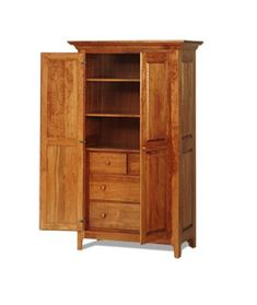 Amish Shaker Armoire With Full Doors