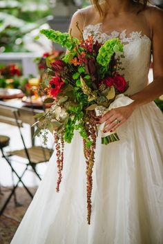 quirky wedding bouquet, photo by Ashlee Hamon Photography http://ruffledblog.com/amelie-inspired-wedding-ideas #bouquets #weddingbouquet