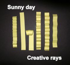"""""""SUNNY DAY"""" - A FREE """"EASY-ART"""" CRAFTIVITY - A fun classroom activity combining language arts and visual arts into the same creative experience. The experience is easily adapted to various levels and includes group discussion and interaction, development of writing skills, and a 3-dimensional craftivity developing artistic skills.  http://www.teacherspayteachers.com/Product/Sunny-Day-An-Easy-art-Craftivity LEARN ABOUT... http://www.onestopteachershop.com/2015/04/what-is-languageart.html"""