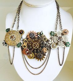 Hey, I found this really awesome Etsy listing at https://www.etsy.com/listing/240097672/steampunk-clock-gear-necklace