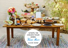 create your own taco bar for wedding reception