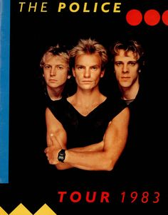 """The Police (1983) - title of the official tour program for """"Synchronicity""""."""