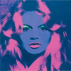Brigitte Bardot, by Andy Warhol.
