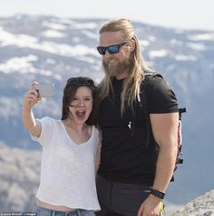 Summit selfie: Lasse told MailOnline that he is very shy and struggles to cope with the nu...