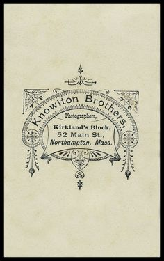 Knowlton Brothers | Sheaff : ephemera