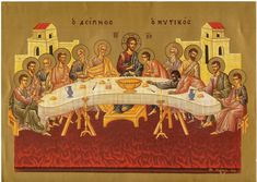 Last Supper, Holy Week, Religious Icons, Catholic Art, Painted Boxes, Orthodox Icons, Casket, Pictures To Draw, Christmas Pictures