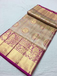 Wedding Saree Blouse Designs, Silk Saree Blouse Designs, Silk Saree Kanchipuram, Handloom Saree, Trendy Sarees, Fancy Sarees, Saree Dress, Sari, Bottle Green Saree