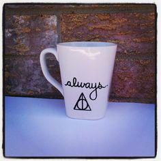Harry Potter Mug Always Deathly Hallows by AlanaKruseCreations, $10.00