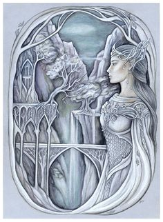 White lady of Gondolin by jankolas on DeviantArt. Aredhel, the White Lady of the Noldor.