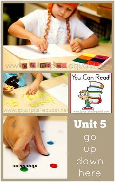 You Can Read Sight Words Unit 5 in action from @1plus1plus1 #kindergarten
