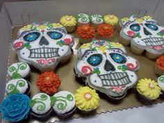 Day of the dead cupcake pullapart